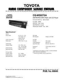 Service Manual Toyota CQ-MS0270A