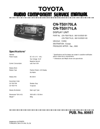 Serviceanleitung Toyota CN-TS0170LA
