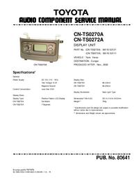 Servicehandboek Toyota CN-TS0272A