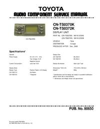 Service Manual Toyota CN-TS0370K