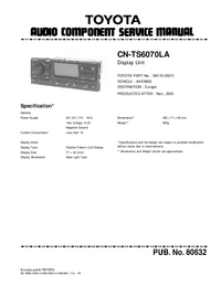 Руководство по техническому обслуживанию Toyota CN-TS6070LA