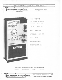 Serwis i User Manual Transmation 1040