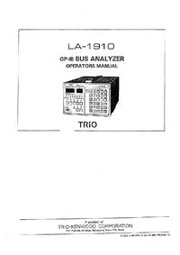 User Manual Trio LA-1910