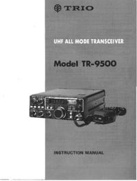 Service and User Manual Trio TR-9500