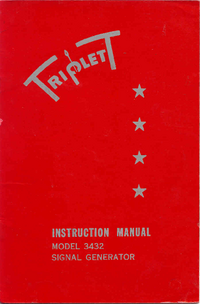 User Manual with schematics Triplett 3432