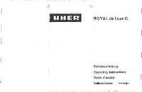 Manual del usuario Uher Royal de Luxe C
