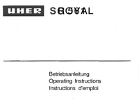Manuale d'uso Uher SG 561 Royal
