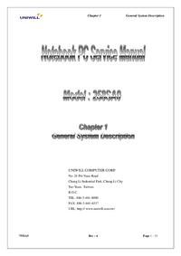 Manual de serviço Uniwill 258SA0