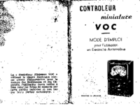 Manual del usuario VOC Controleur Miniature