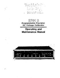 Service-en gebruikershandleiding Valhalla 2701 B