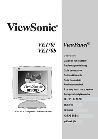 User Manual Viewsonic VE170