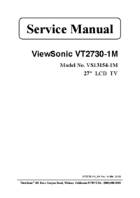Servicehandboek Viewsonic VS13154-1M