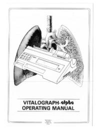 Manual do Usuário Vitalograph alpha