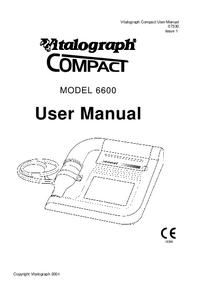 Manuel de l'utilisateur Vitalograph Compact 6600