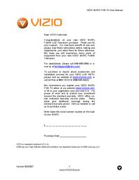 Manual del usuario Vizio GV47L