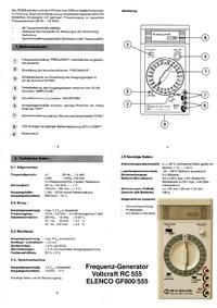 User Manual Voltcraft RC 555