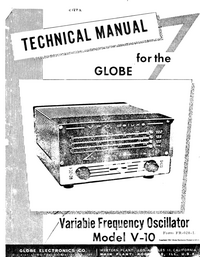 Service and User Manual WRL Globe V-10
