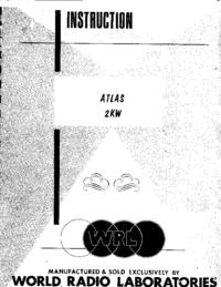 Servizio e manuale utente WRL Atlas 2KW