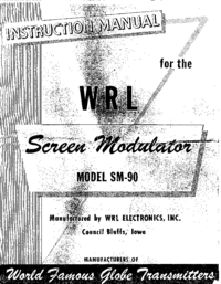 Service and User Manual WRL SM-90