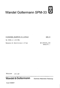 Manual del usuario Wandelgoltermann SPM-33