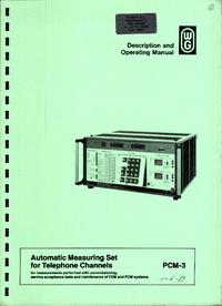 Bedienungsanleitung Wandelgoltermann PCM-3