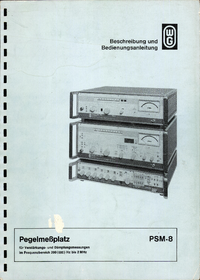 User Manual Wandelgoltermann PSM-8
