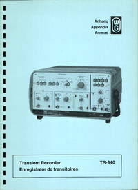 Service Manual, cirquit diagram only Wandelgoltermann TR-940