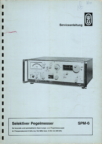 User Manual Wandelgoltermann SPM-6