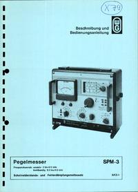 Service- und Bedienungsanleitung Wandelgoltermann SPM-3