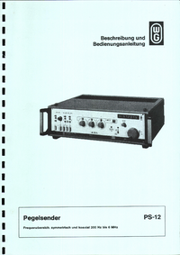 User Manual Wandelgoltermann PS-12