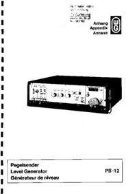 Service Manual Wandelgoltermann PS-12