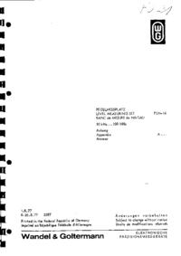 Manual de serviço Wandelgoltermann PSM-14