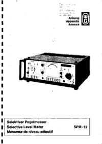 Service Manual Wandelgoltermann SPM-12