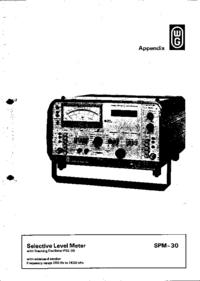 Manual de servicio Wandelgoltermann SPM-30