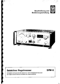 Обслуживание и Руководство пользователя Wandelgoltermann SPM-6