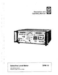 User Manual Wandelgoltermann SPM-19