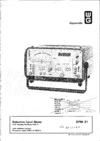Service Manual Wandelgoltermann SPM-31