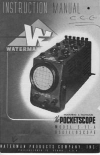 Обслуживание и Руководство пользователя Waterman S-11A