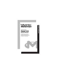 User Manual Wavetek 235