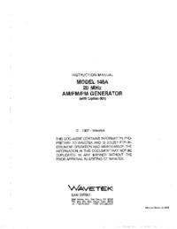Wavetek-11100-Manual-Page-1-Picture