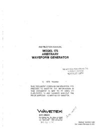 Wavetek-11102-Manual-Page-1-Picture