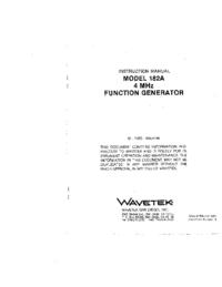 Wavetek-11105-Manual-Page-1-Picture