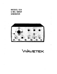 Service and User Manual Wavetek 184