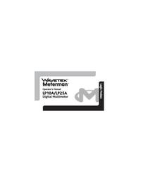 User Manual Wavetek LP25A