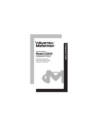 User Manual Wavetek LCR55