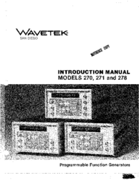 User Manual Wavetek 270