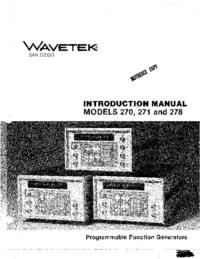 Bedienungsanleitung Wavetek 271