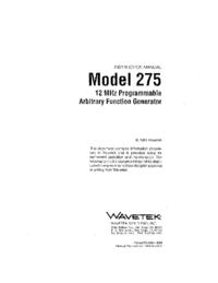 Wavetek-11126-Manual-Page-1-Picture