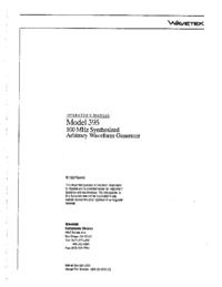 Wavetek-11130-Manual-Page-1-Picture