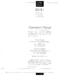 Service and User Manual Wavetek 81